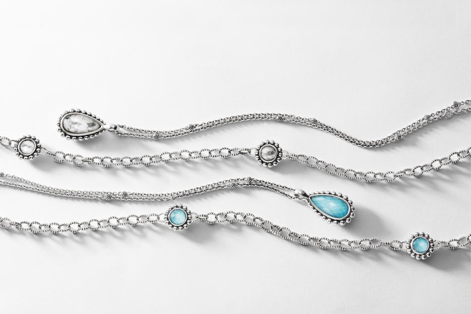 turquoise maya link necklaces