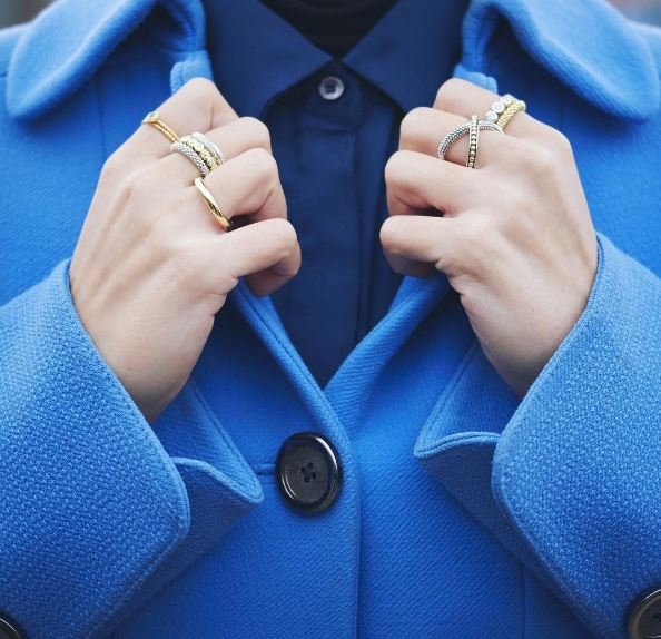 how to wear your favorite stacking rings