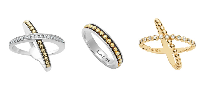 infinity diamond and 18k gold rings