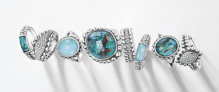 chrysocolla maya collection rings
