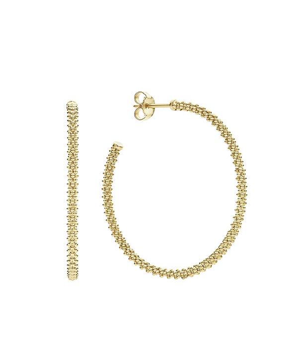 Caviar Gold Hoops