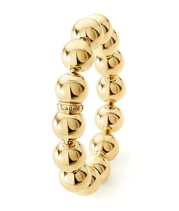 Caviar Gold Beaded Bracelet