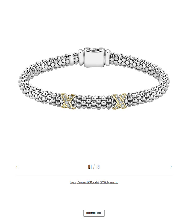 LAGOS Caviar Lux bracelet in the CFDA gift guide