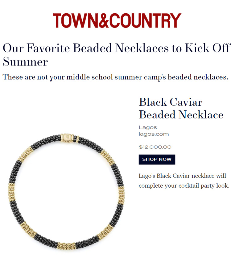 Screenshot of webpage 19 Chic Necklaces to Wear Everyday